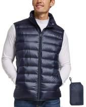 BALEAF Men's Lightweight Down Vest Packable Puffer Vest for Backpacking, Casual, Hiking