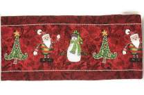 Tache Here Comes Santa Claus Antique Vintage Christmas Eve Traditional Holiday Season Red Decorative Woven Tapestry Table Runners, 13x72