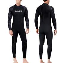 CtriLady Wetsuits Men Guardian 1.5mm Neoprene Full Scuba Diving Suits Surfing Swimming Long Sleeve Suits Keep Warm Back Zip for Water Sports