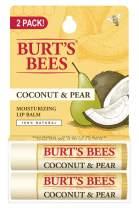 Burt's Bees 100% Natural Moisturizing Lip Balm, Coconut & Pear, 2 Count