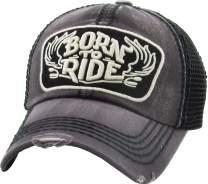 Ride Caps Collection Distressed Baseball Cap Dad Hat Adjustable Unisex