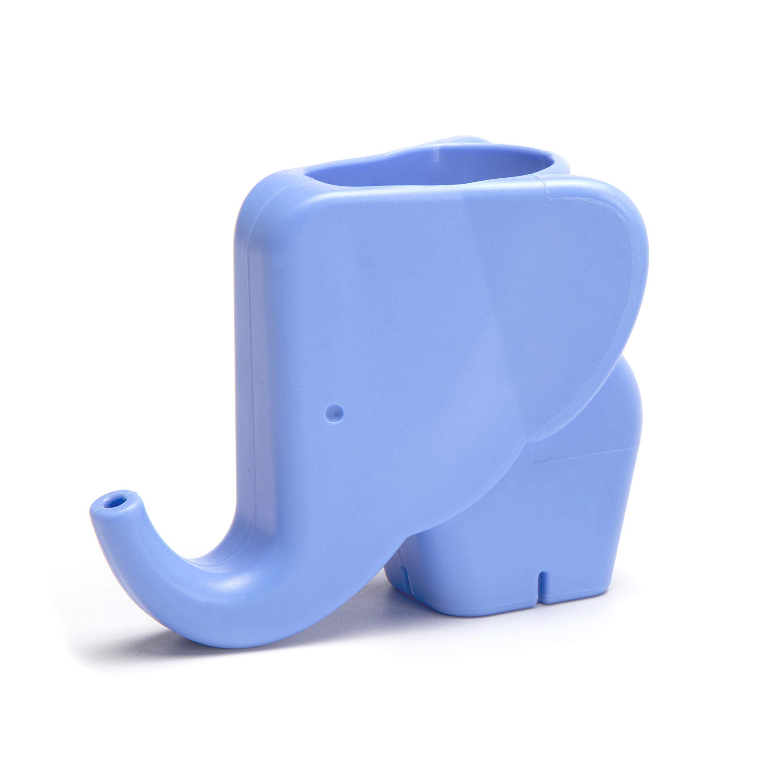 Peleg Design Jumbo Jr. Elephant Faucet Extender for Toddlers Children and Kids, Safe Fun Faucet Fountain Hand-Washing Solution, Light Blue