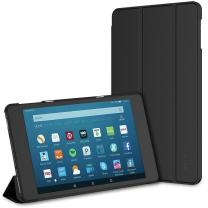 JETech Case for Amazon Fire HD 8 Tablet (8th / 7th / 6th Generation - 2018, 2017 and 2016 Release) Smart Cover with Auto Sleep/Wake (Black)