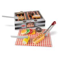 Melissa & Doug Grill and Serve BBQ Set (20 pieces) - Wooden Play Food and Accessories
