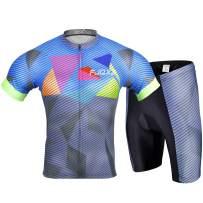 Cycling Jersey Set Bike Biking Outdoor Sports Clothing Short Sleeve Shirt Jersey and Shorts Pants Bicycle