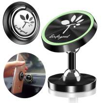 EINFAGOOD Cell Phone Holder for Car Magnetic, Set of Car Mount for Cell Phone Plus Phone Ring Holder, Car Phone Mount Magnetic (1 Magnetic Car Mount & 1 Phone Ring Holder)