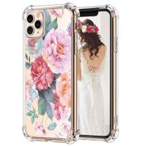 "Hepix iPhone 11 Pro Max Case Penoy Flowers Pink Floral 11 Pro Max Cases, Slim Flexible Protective TPU Frame with Reinforced Bumpers, Anti-Scratch Shock Absorbing for iPhone 11 Pro Max (6.5"") 2019"