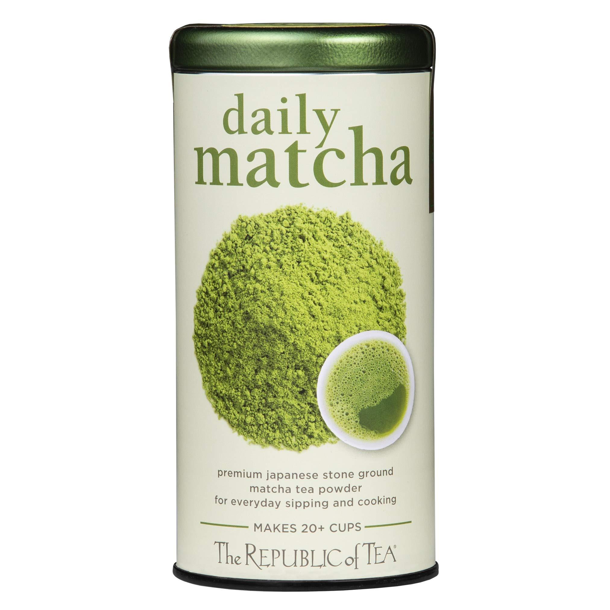 The Republic of Tea Japanese Daily Matcha Powder, Non-GMO Verified (1.5 Ounce Tin)