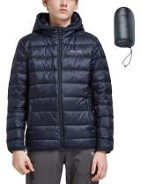 BALEAF Youth/Boy's Lightweight Water-Resistant Packable Puffer Hooded Down Jacket Outdoor Windproof Winter Coat