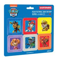 Magformers Paw Patrol 12 Pieces Add on, Rainbow Colors, Educational Magnetic Geometric Shapes Tiles Building STEM Toy Set Ages 3+