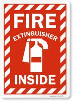 "SmartSign ""Fire Extinguisher Inside"" Label   10"" x 14"" Laminated Vinyl"