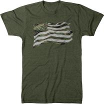 Camouflage United States of America Flag Men's Modern Fit Tri-Blend T-Shirt