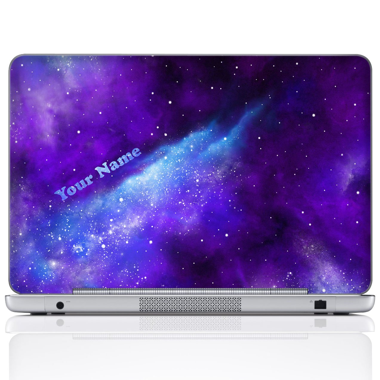 Meffort Inc Personalized Laptop Notebook Notebook Skin Sticker Cover Art Decal, Customize Your Name (10 Inch, Galaxy Universe)