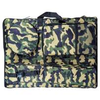 """Transon Artist Portfolio Backpack Bag Water Resistant Size 24.8""""x 19"""" Camouflage Green"""