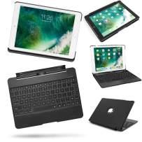 YOUNGFYUN iPad Case with Keyboard Detachable 2018&2017 iPad 9.7, iPad Pro 9.7, iPad Air2 1-7 Colors Backlit Wireless Bluetooth 4.0 Keyboard + Slim Auto Sleep/Awake Tablet Smart Cover (Black)