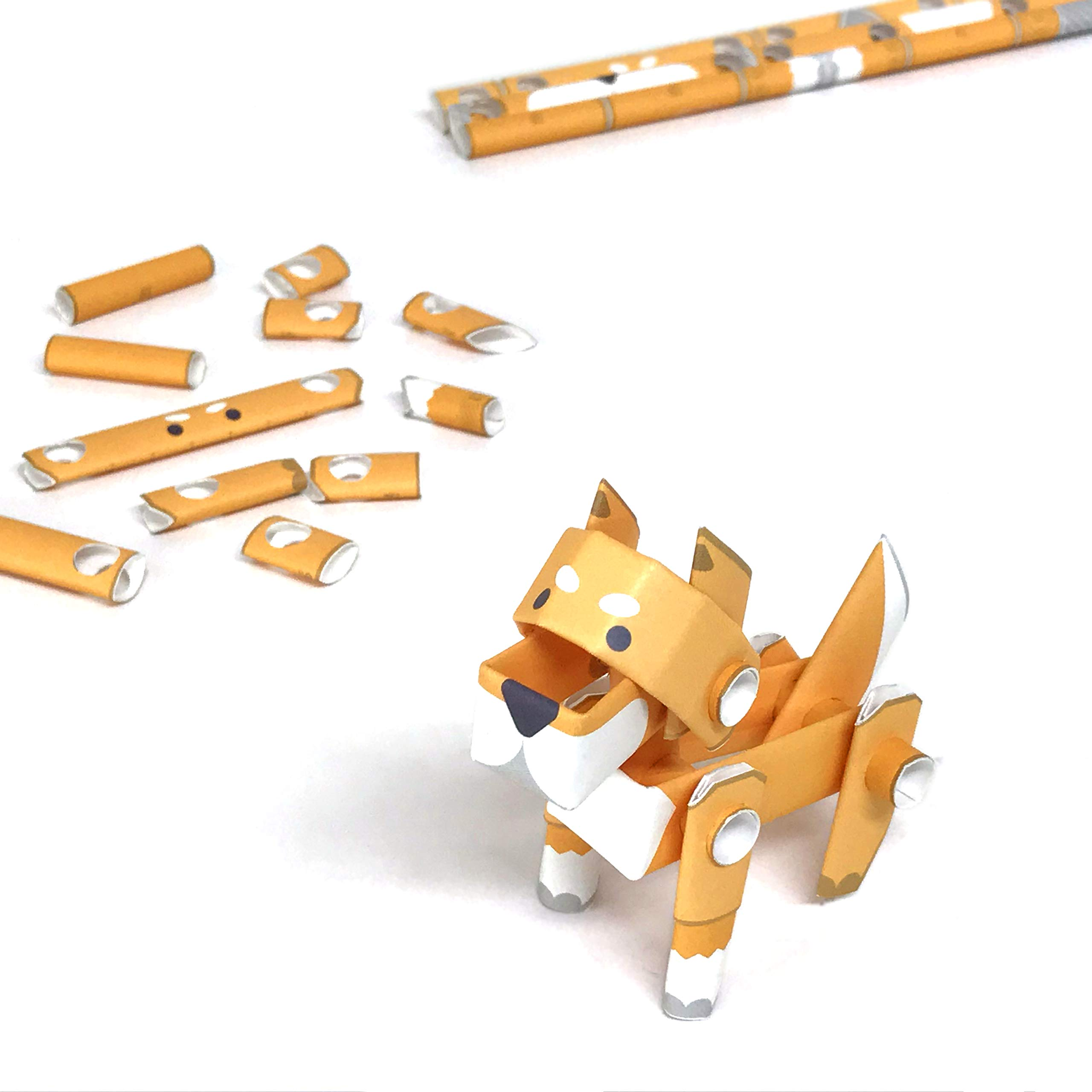 PIPEROID Animals Shiba Inu Dog Japanese DIY Paper Craft Kit - Cool Science Party Favor for Teens and Origami Loving Adults