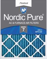 Nordic Pure 12x20x1 MERV 7 Pleated AC Furnace Air Filters, 6 Pack, 6 PACK, 6 PACK