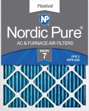 Nordic Pure 18x20x2 MERV 7 Pleated AC Furnace Air Filters, 18x20x2, 3 Pack