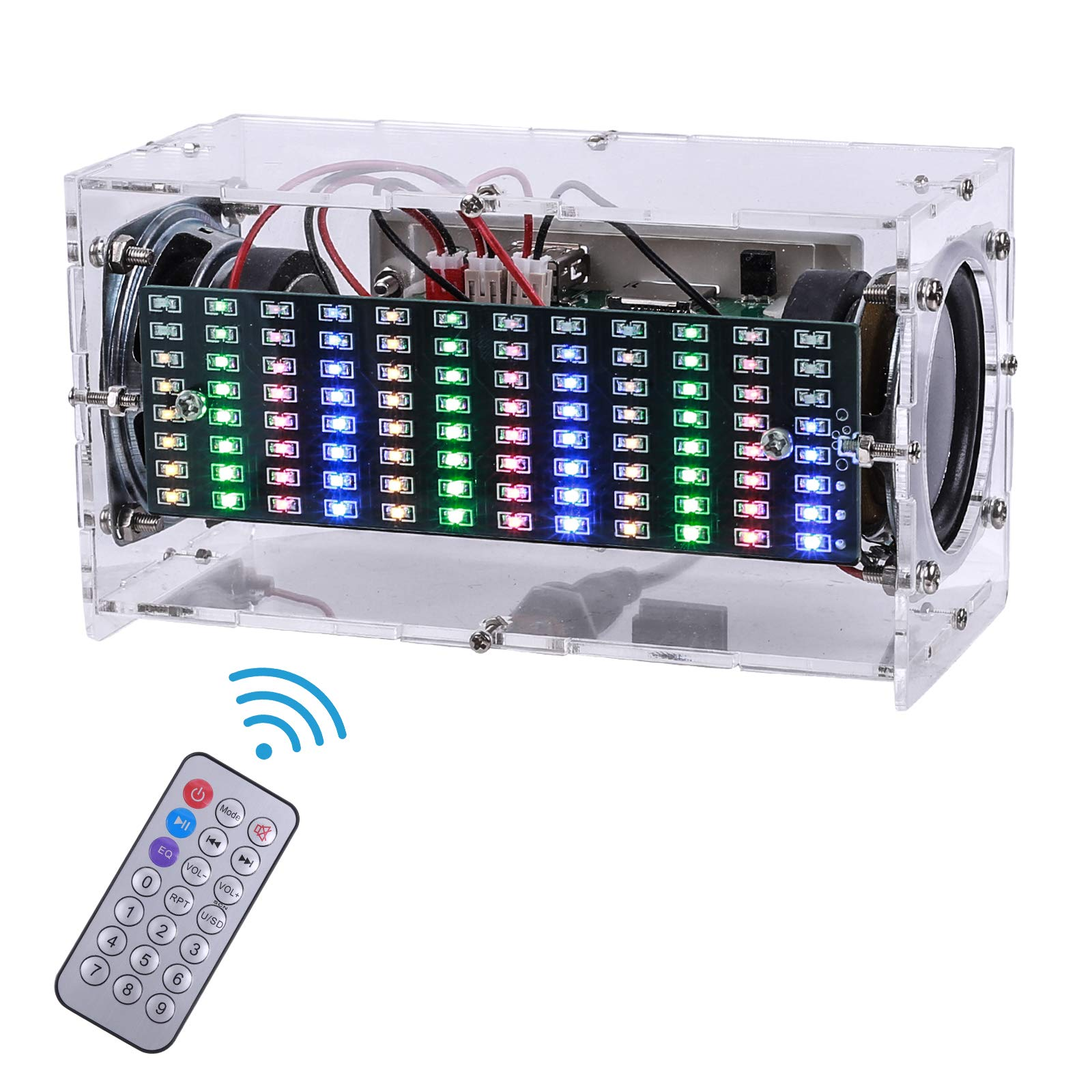 MiOYOOW Bluetooth Speaker Kit DIY Soldering Project Spectrum USB Mini Electronic Sound Amplifier Home Stereo Speaker DIY Kits for Leaning Soldering Home and School Education (Spectrum)