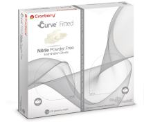 Cranberry USA CR3426 Curve Fitted Nitrile Powder Free Exam Gloves, 7.0 Size, White (Pack of 100)