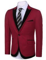 COOFANDY Men's Casual Suit Blazers Slim Fit Stylish Notched Lapel Suit Coat One Button Suit Jacket