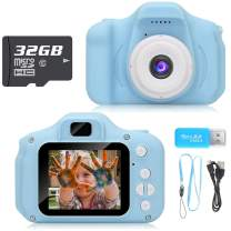 Hachi's Choice Toys for 3-9 Year Old Boys Toddlers, Kids Camera Gifts for Boys Age 3 4 5 6 7 8,Blue(32G SD Card Included)
