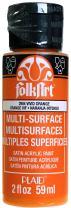 FolkArt Multi-Surface Paint in Assorted Colors (2 oz), 2904, Vivid Orange