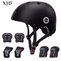XJD Kids Bike Helmet Toddler Helmet 3-13 Years Sport Protective Gear Set Boy Girl Adjustable Child Cycling Helmet with Knee Pads Elbow Pads Wrist Guards Youth Skateboard Helmet CPSC Certified