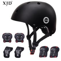 XJD Kids Bike Helmet Toddler Helmet 3-13 Years Sport Protective Gear Set Boy Girl Adjustable Child Cycling Helmet with Knee Pads Elbow Pads Wrist Guards Youth Skateboard Helmet CPSC Certified