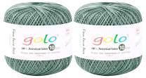 golo Crochet Thread Yarn Size10 for Hand Knitting Crochet (2-Pack) Crochet Yarn for Knitting (Silver Gray)