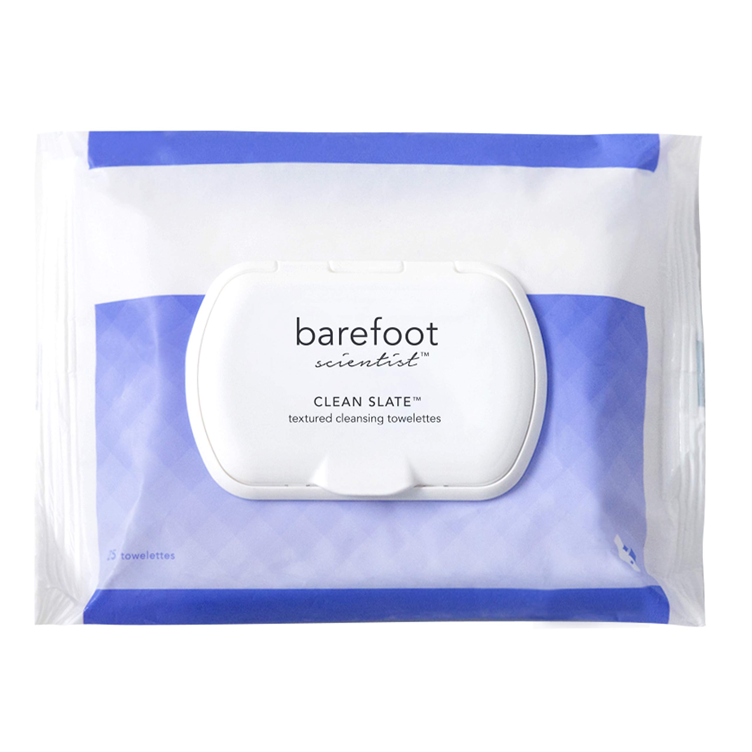 Barefoot Scientist Clean Slate Textured Cleansing Towelettes, Extra-Large, Extra-Strong Foot Disinfecting Wipes