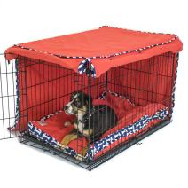 Cardinal & Crest Give a Dog a Bone Crate Cover | Completely Covers Kennels and Wire Crates with Double Access Door Panels