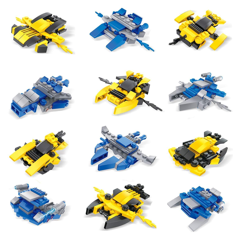 FUN LITTLE TOYS 12 Boxes Mini Building Blocks Sets for Kids Party Favors