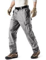 CQR Men's Tactical Pants, Military Combat BDU/ACU Cargo Pants, Water Repellent Ripstop Work Pants, Hiking Outdoor Apparel