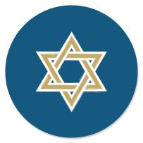 Big Dot of Happiness Happy Hanukkah - Chanukah Party Circle Sticker Labels - 24 Count