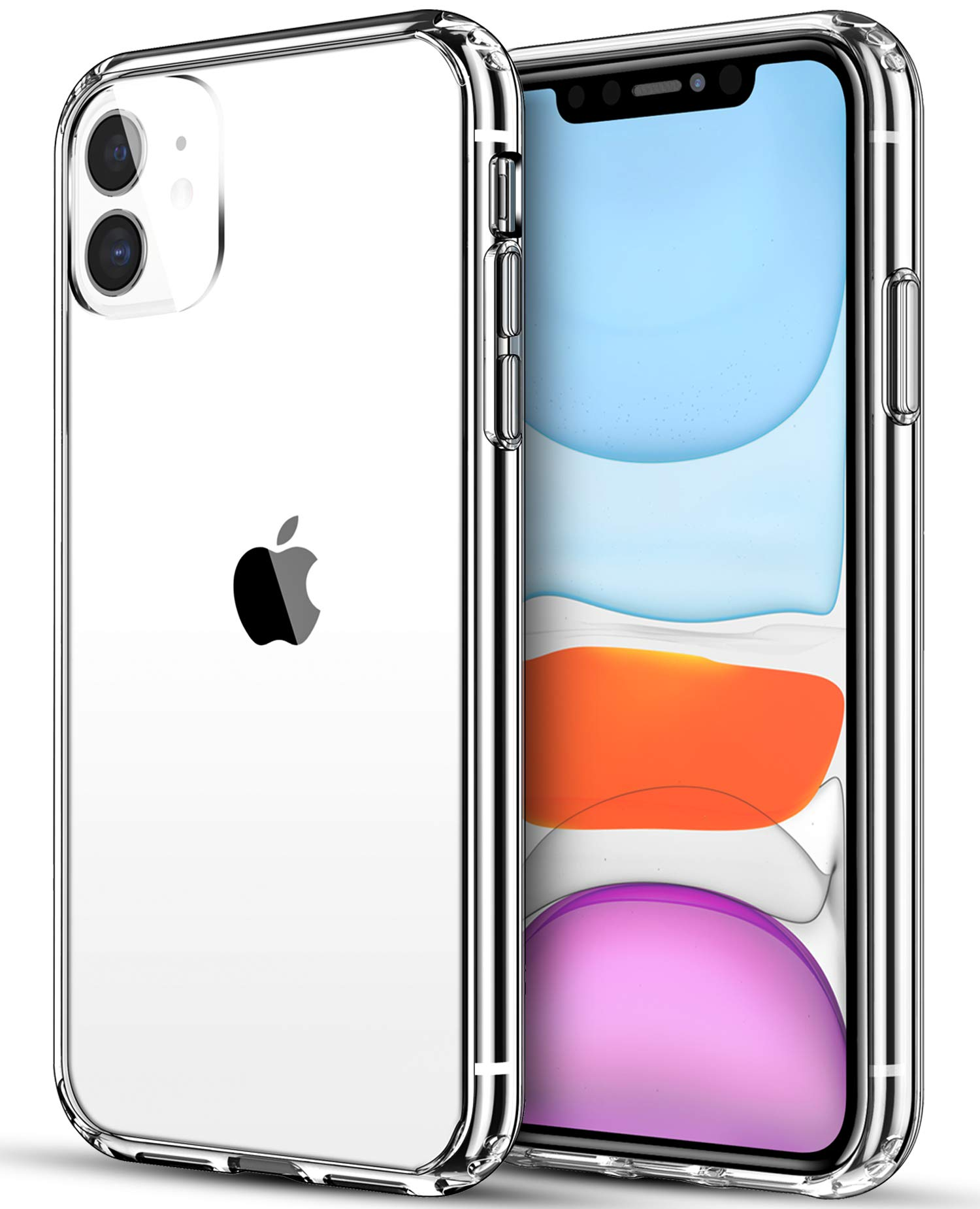 SATLITOG Compatible with iPhone 11 Case (2019), Clear iPhone 11 Cases Cover with Hard PC Back & Soft TPU Bumper for iPhone 11 6.1 Inch