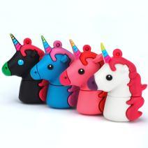 32GB Unicorn USB Flash Drive Pack of 4 Pendrives Kids Pen Drive Student Storage Zip Drive