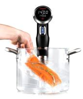 Chefman Sous Vide Immersion Circulator w/ Precise Temperature, Programmable Digital Touch Screen Display and Easy to Use Controls, Black