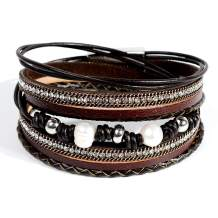 Artilady Shinning wrap Clasp Bangle for Women
