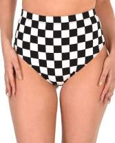 iHeartRaves Women's High Waisted Checkered Print Rave Booty Shorts