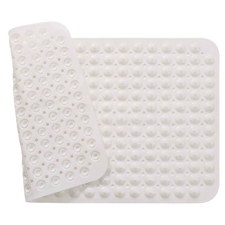 X·SOAR-Waterproof Non-Slip Bathroom Toilet Shower Mats Bath Hotel Household Plastic Anti-Skid Pad (White, 22inch x 34inch)