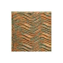 FASÄDE Easy Installation Current Horizontal Copper Fantasy Glue Up Ceiling Tile/Ceiling Panel (12X12 Inch Sample)