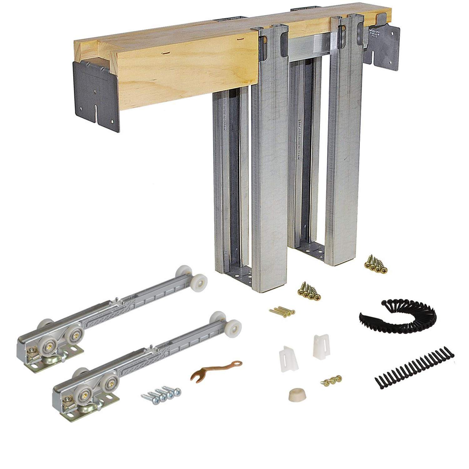 Johnson Hardware 1500 Soft Close Series Commercial Grade Pocket Door Frame for 2x4 Stud Wall (30 inch x 80 inch)
