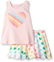 The Children's Place Girls' Sleeveless Top and Tiered Skirt Outfit Set