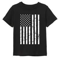 BesserBay Kids 4th of July American Flag Patriotic Cotton Tshirt 3-12 Years