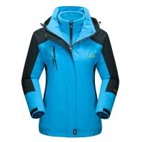 MAGCOMSEN Women's Outdoor 3-in-1 Water Resistant Skiing Snowboarding Jacket Fleece Warm Raincoat