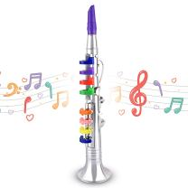 Abco Tech Children's Clarinet for Beginners – Toy Musical Instrument for Kids with 8 Color Coded Keys – Lead Free and BPA Free