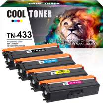 Cool Toner Compatible Toner Cartridge Replacement for Brother TN433 TN-433 for HL-L8360CDW MFC-L8900CDW HL-L8360CDWT HL-L8260CDW MFCL8610CDW MFCL9570CDW Color Laser All-in-One TN433 TN431 Printer-4PK