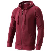 Men's Casual Full Zip Hoodie Hooded Sweatshirt Cotton Blend Hooded Jacket