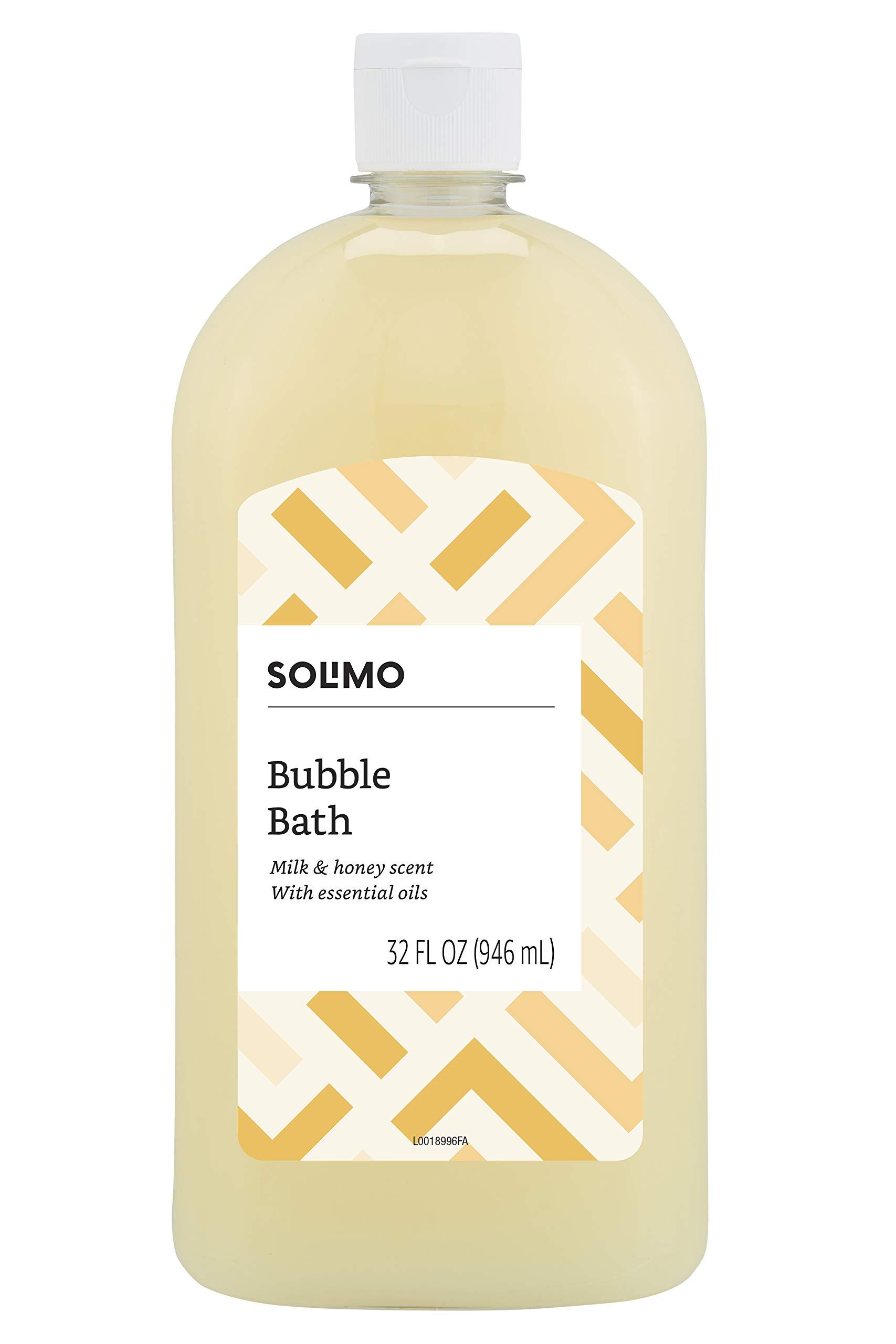Amazon Brand - Solimo Milk and Honey Bubble Bath, 32 Fluid Ounce